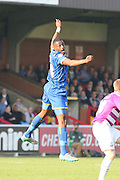 Semi Ajayi of AFC Wimbledon during the Sky Bet League 2 match between AFC Wimbledon and Barnet at the Cherry Red Records Stadium, Kingston, England on 3 October 2015. Photo by Stuart Butcher.