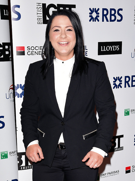 Lucy Spraggan attends The British LGBT Awards at The Landmark Hotel, London on Friday 24 April 2015