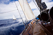 Maggie B. and J-Class Ranger at the Antigua Classic Yacht Regatta