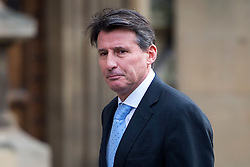 © Licensed to London News Pictures. 02/12/2015. London, UK. Lord SEBASTIAN COE arriving at Houses of Parliament in London to give evidence before a Commons Culture Media and Sport committee on blood-doping allegations. Lord Coe, who is president of the IAAF (International Association of Athletics Federations) has come under pressure following allegations of widespread doping in athletics.   Photo credit: Ben Cawthra/LNP