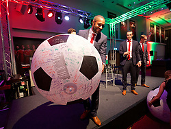 CARDIFF, WALES - Wednesday, June 1, 2016: Wales' captain Ashley Williams during a charity send-off gala dinner at the Vale Resort Hotel ahead of the UEFA Euro 2016. (Pic by David Rawcliffe/Propaganda)