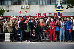 Fans pack the roadside at Tour of Chongming Island 2018 - Stage 1, a 111.5km road race on Chongming Island on April 26, 2018. Photo by Sean Robinson/Velofocus.com