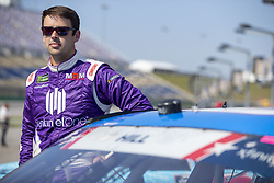 July 13, 2018 - Sparta, Kentucky, United States of America - Timmy Hill (66) gets ready to qualify for the Alsco 300 at Kentucky Speedway in Sparta, Kentucky. (Credit Image: © Stephen A. Arce/ASP via ZUMA Wire)