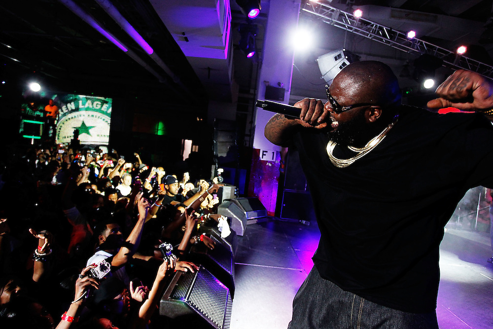 NEW YORK - JULY 31:  Recording artist Rick Ross performs live at the  Heineken Inspire New York at St. John's Center Studios on July 31, 2010 in New York City.  (Photo by Joe Kohen/WireImage for Heineken)