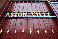 BIRMINGHAM, ENGLAND - Tuesday, March 1, 2016: Gates at Aston Villa's Villa Park Stadium. (Pic by David Rawcliffe/Propaganda)