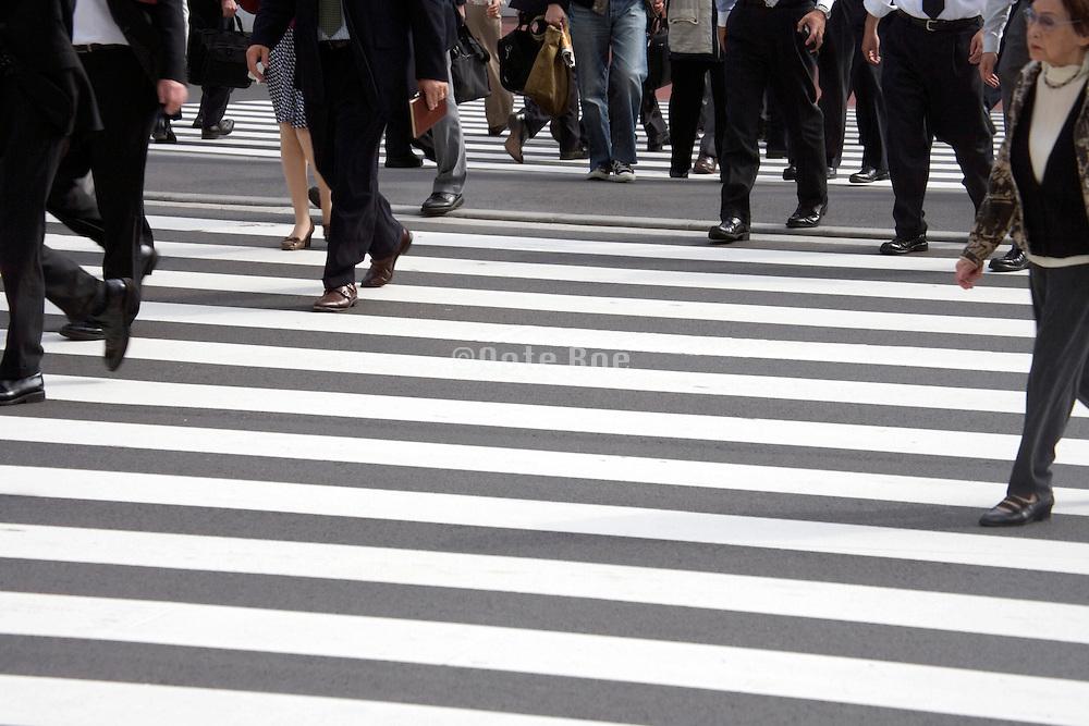 pedestrian crossing near Tokyo station Japan