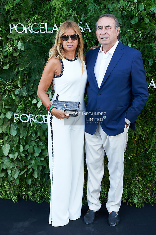 Pedro Trapote, Begona Garcia Vaquero attended the Opening of a Porcelanosa store on June 14, 2017 in Madrid