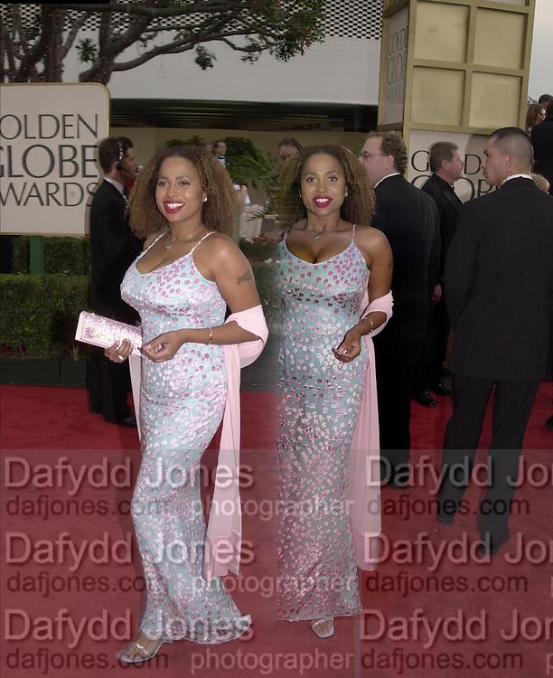 Lisa Nicole Carson, Golden Globes. Beverley Hilton. 21 January 2001. © Copyright Photograph by Dafydd Jones 66 Stockwell Park Rd. London SW9 0DA Tel 020 7733 0108 www.dafjones.com