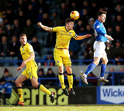 Tom Lockyer of Bristol Rovers wins a header - Mandatory by-line: Matt McNulty/JMP - 04/02/2017 - FOOTBALL - Crown Oil Arena - Rochdale, England - Rochdale v Bristol Rovers - Sky Bet League One