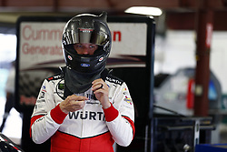 July 14, 2017 - Loudon, NH, United States of America - July 14, 2017 - Loudon, NH, USA: Brad Keselowski (22) hangs out in the garage during practice for the Overton's 200 at New Hampshire Motor Speedway in Loudon, NH. (Credit Image: © Justin R. Noe Asp Inc/ASP via ZUMA Wire)