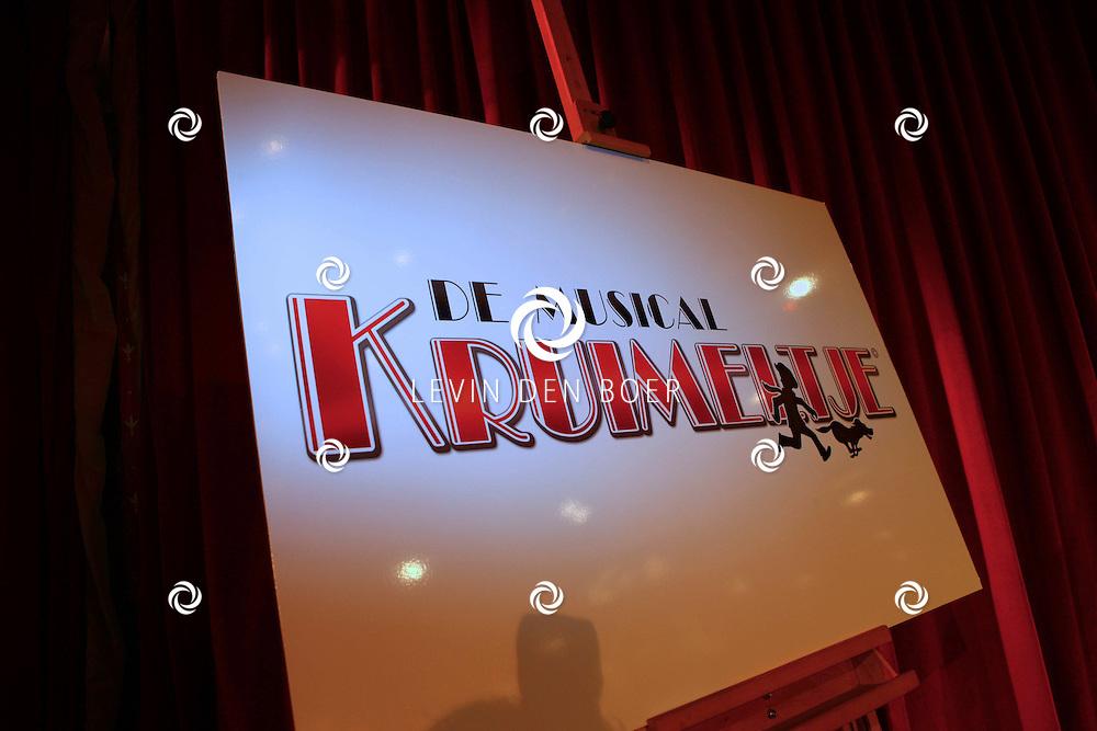KAATSHEUVEL - Rick Engelkes Producties (REP) en Efteling Theaterproducties brengen in het komende theaterseizoen het oer-Hollandse verhaal Kruimeltje groots tot leven. Met op de foto  het logo van de musical Kruimeltje. FOTO LEVIN DEN BOER / PERSFOTO.NU