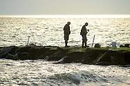 People enjoy the warm weather Sunday, October 30, 2016 in Cape May Point, New Jersey. (Photo by William Thomas Cain/Cain Images)