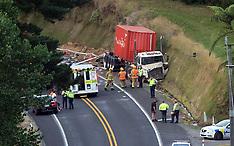 Tauranga-Fatal accident at Whakamarama between semi trailer and small truck