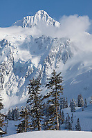 WA09042-00...WASHINGTON - Winter view of Mount Shuksan from Heather Meadows Recreation Area.