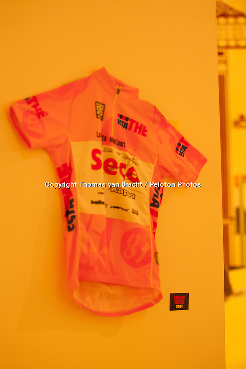 Milano, Italy - Presentation Giro 2014 - 7th October 2013 - Saeco Pink Jersey