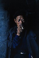 A coalminer takes a break in a mine near Datong, China, 1993