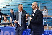 DESCRIZIONE : Campionato 2014/15 Serie A Beko Grissin Bon Reggio Emilia - Dinamo Banco di Sardegna Sassari Finale Playoff Gara7 Scudetto<br /> GIOCATORE : Carmelo Paternicò Edi Dembinsky<br /> CATEGORIA : Ritratto Before Pregame Arbitro Referee<br /> SQUADRA : AIAP Rai TV<br /> EVENTO : LegaBasket Serie A Beko 2014/2015<br /> GARA : Grissin Bon Reggio Emilia - Dinamo Banco di Sardegna Sassari Finale Playoff Gara7 Scudetto<br /> DATA : 26/06/2015<br /> SPORT : Pallacanestro <br /> AUTORE : Agenzia Ciamillo-Castoria/L.Canu