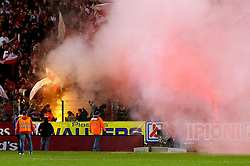 12.03.2011, Stade du Pays, Charleroi , BEL, JL,  Sporting Charleroi vs Standard Liège, im Bild Standard 's supporters pictured during Jupiler Pro League Season 2010 - 2011 soccer match R Charleroi SC and  Standard. Saterday Mar. 12, 2011.  EXPA Pictures © 2011, PhotoCredit: EXPA/ nph/  Alain Sprimont       ****** out of GER / SWE / CRO  / BEL ******