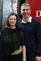 "Bernadette Mullarkey and Gabe Mullarkey at the World Premiere of the ""Luck Just Kissed you Hello""by Amy Conroy in the Mick Lally theatre (Druid) on the opening night of Galway international Arts Festival. Photo:andrew Downes xposure"