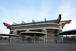 January 13, 2019 - Milan, Milan, Italy - The Stadio Giuseppe Meazza closed for racism prior to the Coppa Italia match between FC Internazionale and Benevento Calcio at Stadio Giuseppe Meazza on January 13, 2019 in Milan, Italy. (Credit Image: © Giuseppe Cottini/NurPhoto via ZUMA Press)
