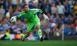 LONDON, ENGLAND - Saturday, August 20, 2011: West Bromwich Albion's goalkeeper Ben Foster in action against Chelsea during the Premiership match at Stamford Bridge. (Pic by David Rawcliffe/Propaganda)