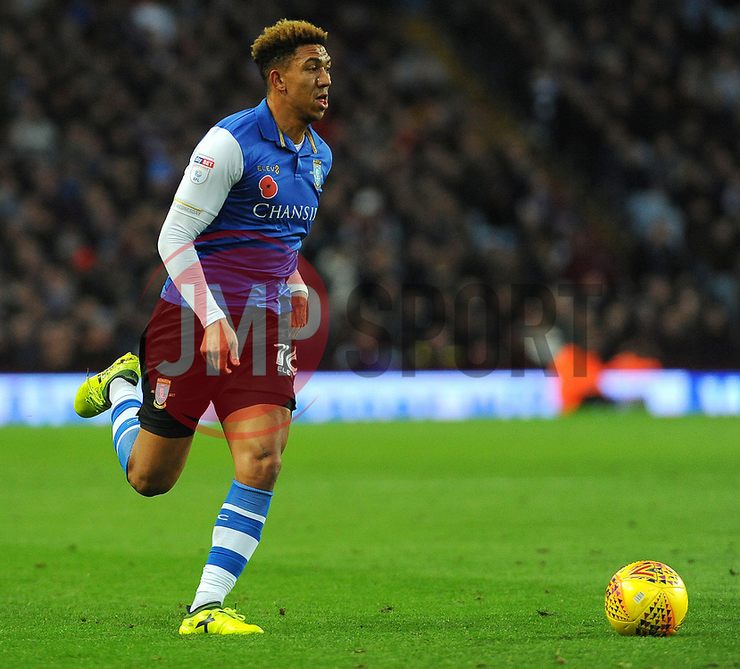 Liam Palmer of Sheffield Wednesday runs with the ball - Mandatory by-line: Nizaam Jones/JMP - 04/11/2017 - FOOTBALL - Villa Park - Birmingham, England - Aston Villa v Sheffield Wednesday - Sky Bet Championship
