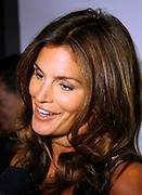 Cindy Crawford is interviewed at Soho House to launch her 'Style' Line at JC Penney in New York City, USA on September 9, 2009.