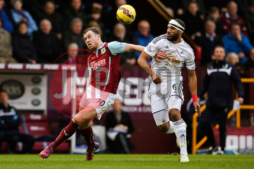 Burnley's Ashley Barnes controls the ball - Photo mandatory by-line: Matt McNulty/JMP - Mobile: 07966 386802 - 28/02/2015 - SPORT - Football - Burnley - Turf Moor - Burnley v Swansea City - Barclays Premier League
