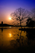 Sunset at West Lake of Hangzhou, China