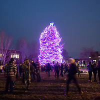 Annual Boise State Tree Lighting in the Quad, Allison Corona photo.
