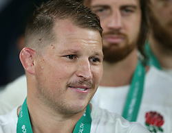 12 November 2016 Twickenham : Rugby Union International Match : England v South Africa :<br /> a hint of a smile from England captain Dylan Hartley.<br /> Photo: Mark Leech