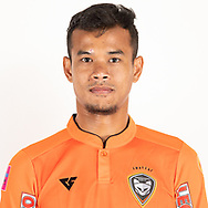 THAILAND - JUNE 25: Akekanat Kongket #5 of Nakhonratchasrima Mazda FC on June 25, 2019.<br /> .<br /> .<br /> .<br /> (Photo by: Naratip Golf Srisupab/SEALs Sports Images/MB Media Solutions)
