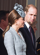 21.10.2014;London, UK: CATHERINE, DUCHESSOF CAMBRIDGE - APPEARS TO BE HOLDING BACK WHILE PRINCE WILLIAM LOOKS ON.<br /> Could it be that Kate was feeling sick!<br /> She attended her first public engagement since the announcement of her second pregnancy.<br /> Kate was accompanied by Prince William to the ceremonial welcome at Horse Guards Parade for The President of the Republic of Singapore Tony Tan and Mrs. Mary Tan.<br /> The Queen and Duke of Edinburgh officially welcomed the The President of the Republic of Singapore Tony Tan and Mrs. Mary Tan.<br /> The President of the Republic of Singapore is on a 4-day State Visit to the UK.<br /> Mandatory Photo Credit: &copy;Dias/NEWSPIX INTERNATIONAL<br /> <br /> **ALL FEES PAYABLE TO: &quot;NEWSPIX INTERNATIONAL&quot;**<br /> <br /> PHOTO CREDIT MANDATORY!!: NEWSPIX INTERNATIONAL(Failure to credit will incur a surcharge of 100% of reproduction fees)<br /> <br /> IMMEDIATE CONFIRMATION OF USAGE REQUIRED:<br /> Newspix International, 31 Chinnery Hill, Bishop's Stortford, ENGLAND CM23 3PS<br /> Tel:+441279 324672  ; Fax: +441279656877<br /> Mobile:  0777568 1153<br /> e-mail: info@newspixinternational.co.uk