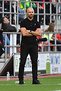Rotherham united managger Paul Warne during the EFL Sky Bet League 1 match between Rotherham United and Tranmere Rovers at the AESSEAL New York Stadium, Rotherham, England on 31 August 2019.