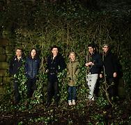 Scottish indie pop band Belle &amp; Sebastian photographed for The Skinny on December 12, 2014 in Glasgow, Scotland<br /> Pictured L to R , Bobby Kildea,Richard Colburn, Stuart Murdoch,Sarah Martin,Stevie Jackson,Chris Geddes.