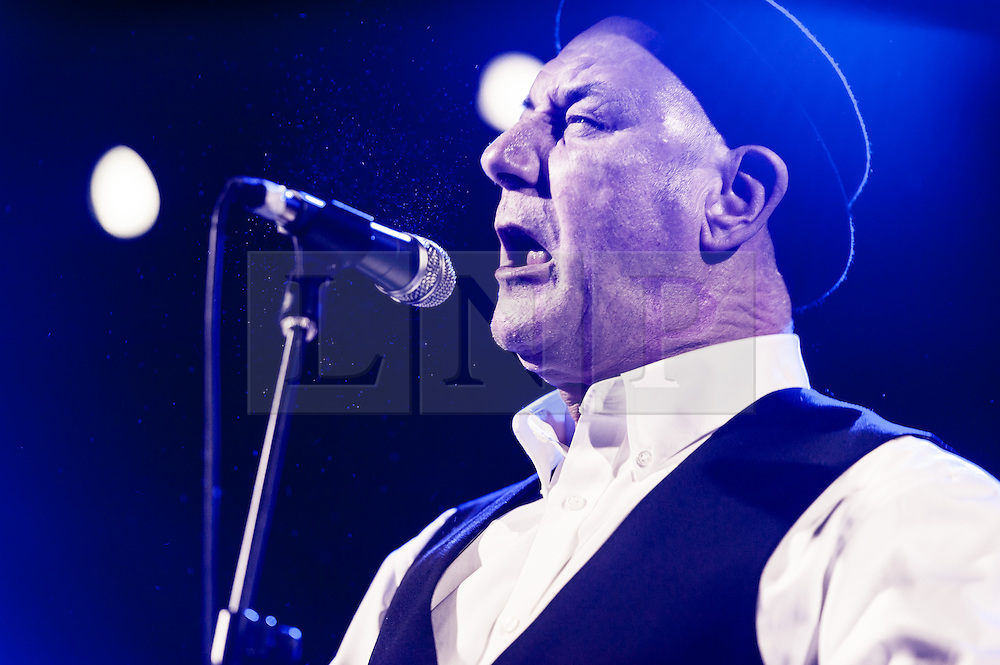 © Licensed to London News Pictures. 30/01/2015. London, UK.   Steve Ignorant performing live at Electric Ballroom, supporting headliner Sleaford Mods.  Steve Ignorant is a singer and artist who co-founded the anarcho-punk band Crass with Penny Rimbaud in 1977 and later worked with other groups including Conflict, Schwartzeneggar, Stratford Mercenaries, Current 93, US punk band Thought Crime, as well as being an occasional solo performer.  He is also a sculptor and volunteers as a lifeboatman.  Photo credit : Richard Isaac/LNP
