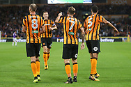 Kamil Grosicki of Hull City celebrates scoring his sides 3rd goal during the Sky Bet Championship match at the KCOM Stadium, Hull<br /> Picture by Paul Chesterton/Focus Images Ltd +44 7904 640267<br /> 25/08/2017