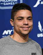 Feb 10, 2017; New York, NY; Matt Centrowitz (USA) during a press conference prior to the 110th Millrose Games at the NYRR RunCenter.