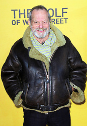 © Licensed to London News Pictures. 09/01/2014, UK. Terry Gilliam, The Wolf of Wall Street - UK film premiere, Odeon Leicester Square, London UK, 09 January 2014. Photo credit : Richard Goldschmidt/Piqtured/LNP