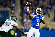 Kentucky Wildcats quarterback Terry Wilson (3) passes during the second half at Kroger Field in Lexington, Ky., Saturday, Sept. 7, 2019.