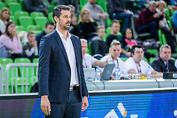 Jurica Golemac, Head coach of Sixt Primorska during basketball match between KK Petrol Olimpija and KK Sixt Primorska in Playoffs of Liga Nova KBM, on March 30, 2018 in Arena Stozice, Ljubljana, Slovenia. Photo by Ziga Zupan / Sportida