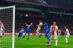 13-03-2019 NED: Ajax - PEC Zwolle, Amsterdam<br /> Ajax has booked an oppressive victory over PEC Zwolle without entertaining the public 2-1 / Vito van Crooij #7 of PEC Zwolle, Klaas Jan Huntelaar #9 of Ajax, Darryl Lachman #29 of PEC Zwolle