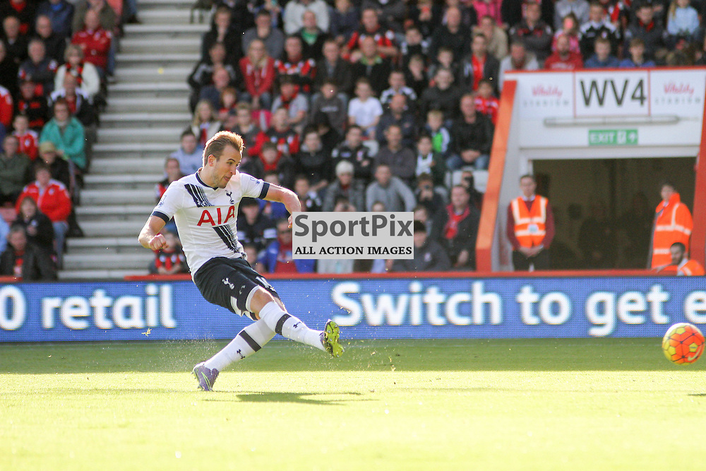 Harry Kane converts his penalty During Bournemouth vs Tottenham Hotspur on Sunday 25th of October 2015.
