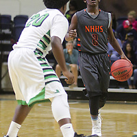 The New Hanover High School Boys faced Ashbrook High School on the second day of the Leon Brogden Holiday Tournament Saturday December 27, 2014 at UNCW. (Jason A. Frizzelle)
