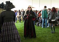 Wizard Lucius Malfoy - Perseus Lepage of Salem, MA in the main tent at Misti-Con 2015 held at the Margate Resort Saturday afternoon.  (Karen Bobotas/for the Laconia Daily Sun)