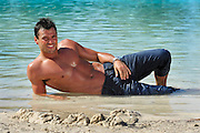 Mark Wright from ITV The only way is Essex..I'm a celebrity Get Me out of here 2011.Sanctuary Cove Hyatt Regency..Pic Jayne Russell .10th November 2011.© Jayne Russell.