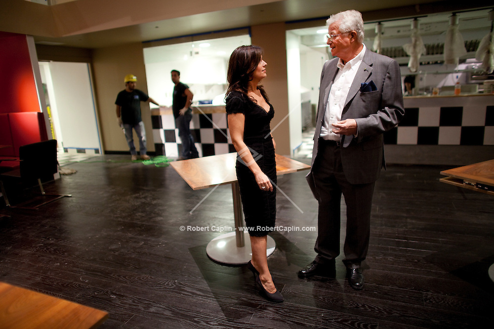 Tony May and his daughter Marisa May at his newest restaurant, San Domenico in New York, NY on Tuesday, Aug. 25, 2009.