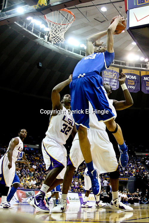January 28, 2012; Baton Rouge, LA; Kentucky Wildcats forward Anthony Davis (23) shoots against the LSU Tigers during the first half of a game at the Pete Maravich Assembly Center. Kentucky defeated LSU 74-50.  Mandatory Credit: Derick E. Hingle-US PRESSWIRE