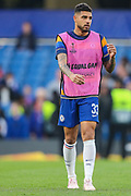 Chelsea defender Emerson Palmieri (33) warms up prior to the Europa League  quarter-final, leg 2 of 2 match between Chelsea and Slavia Prague at Stamford Bridge, London, England on 18 April 2019.