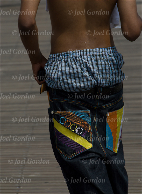 Sagging Pants were BORN in PRISONS! They were done that way so as to IDENTIFY those inmates who were either ADVERTISING for HOMOSEXUAL favors, OR LETTING the GP (Population) know that they would be willing for a QUICKIE.